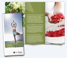 beauty and spa brochure template